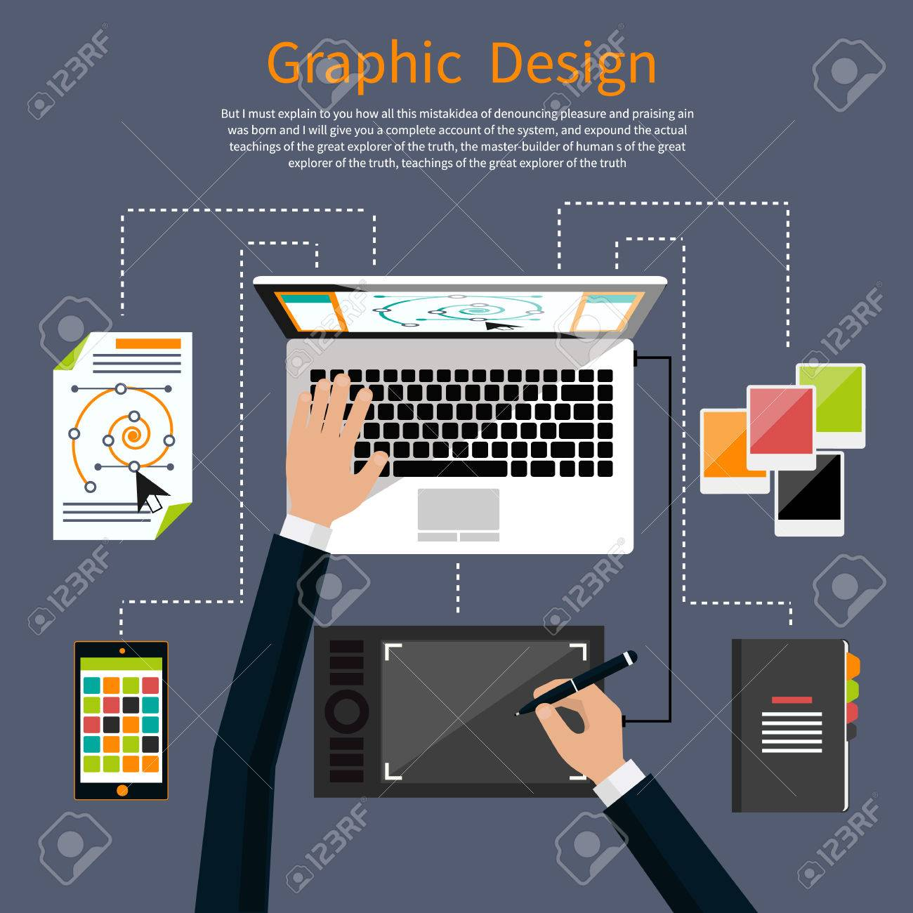 Concept For Graphic Design Designer Tools And Software In Flat Royalty Free Cliparts Vectors And Stock Illustration Image 38419631