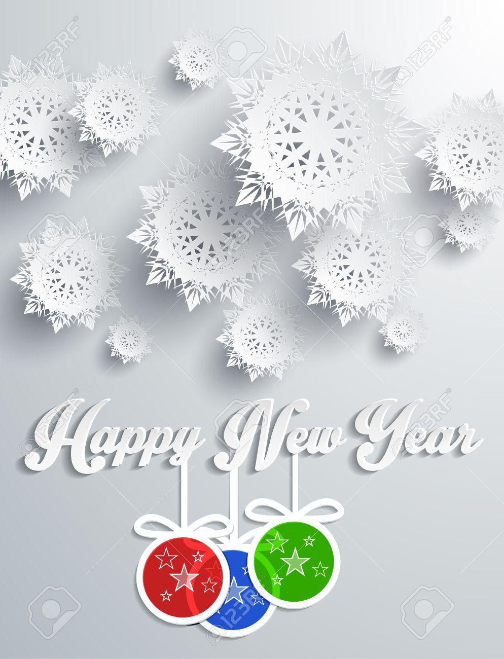 Schneeflocken Hintergrund Für Winter Und Neujahr, Weihnachten Thema ...