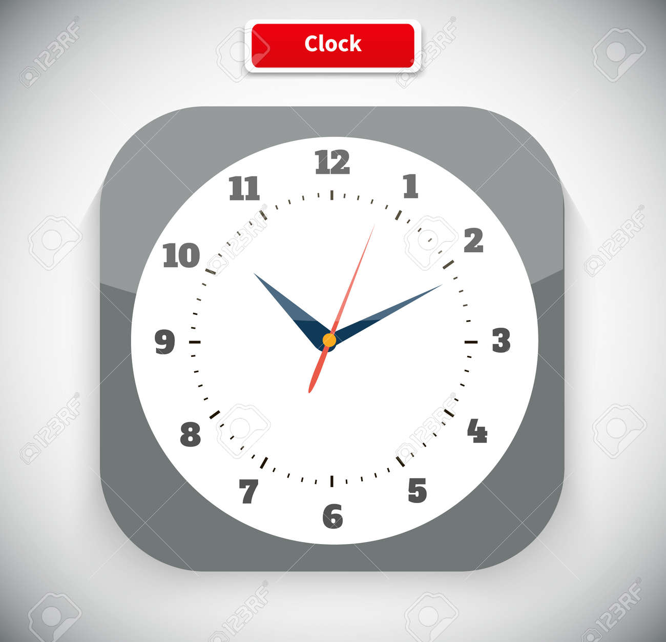 Time and clock icon  Time, watch, clock icon, alarm clock, wall