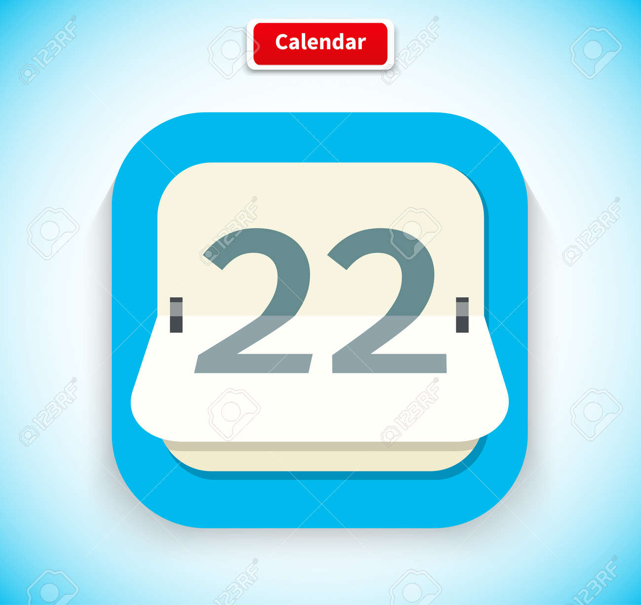 Calendar App Icon Flat Style Design Calendar Icon Calendar