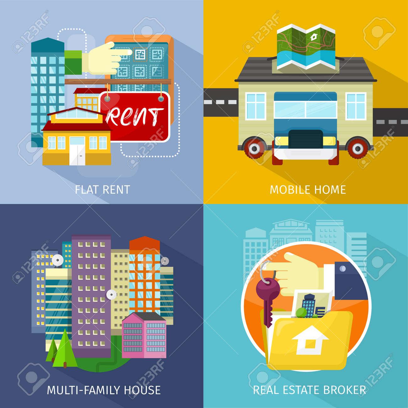 Multi Family House Mobile Home Flat Rent Rental Estate Broker