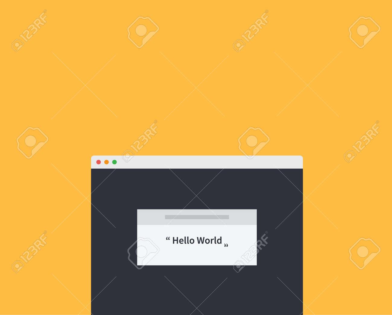 La Página Web De Estilo Diseño De La Ventana Maqueta. Sitio De La ...