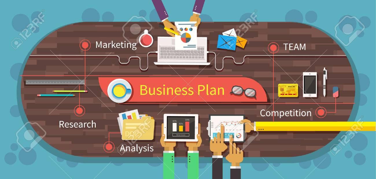 Business Plan Marktforschung Analyse. Wettbewerbs Team, Die ...