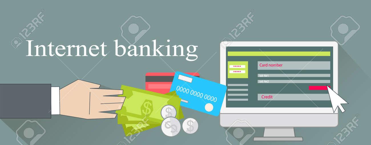 Tarjeta De Crédito De Dinero De Banca Por Internet. La Banca En Línea,  Banca Y Banca Móvil, Banca En Casa, El Pago De Finanzas, Tecnología De  Negocios, ...