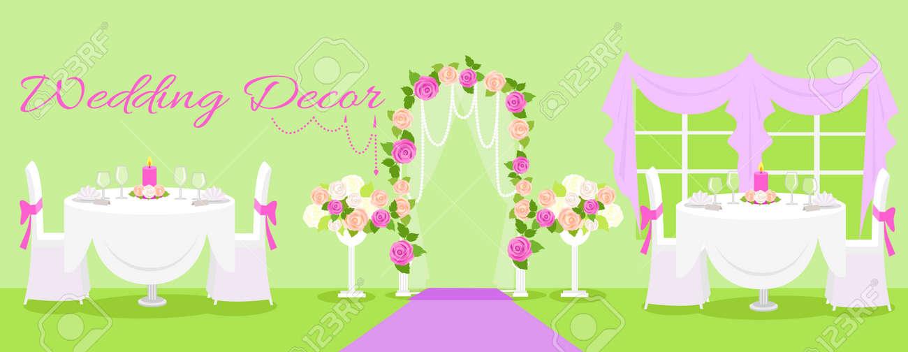 Mariage Décoration De L\'intérieur De La Mode. Décoration De Mariage ...