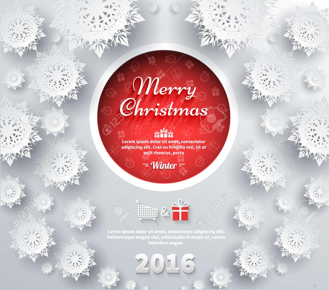 Schneeflocken Hintergrund Für Winter Und Frohe Weihnachten Thema ...