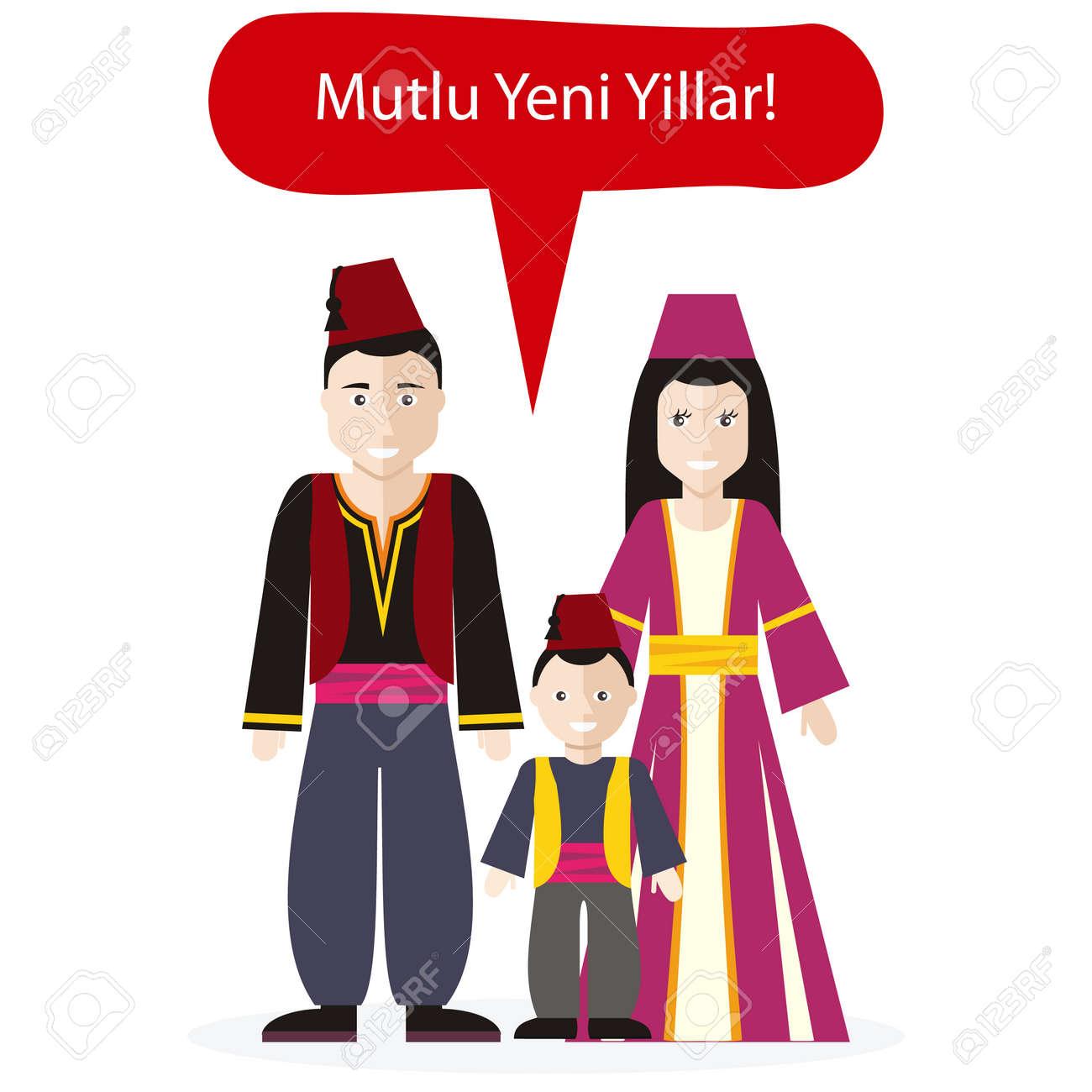 Türken Menschen Gratulation Frohes Neues Jahr. Kultur Tradition ...