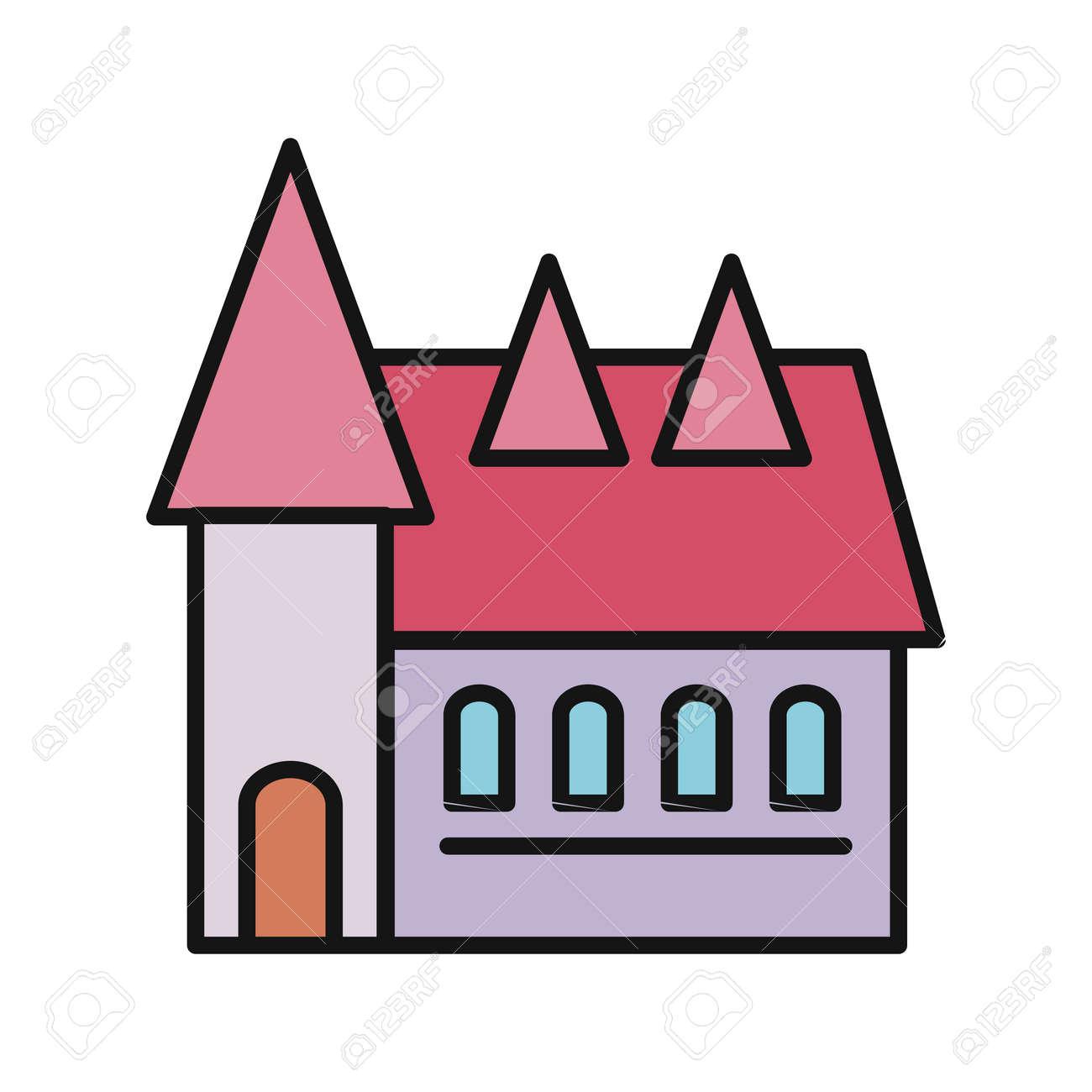 Immobilien-Konzept. Kleines Haus. Haussymbol. Isoliertes Haus. Haus ...
