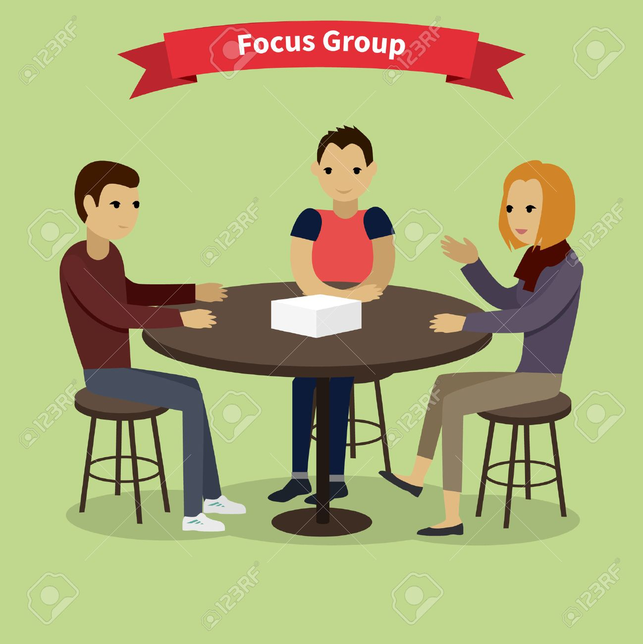 Focus group target audience at aim. Market research, focus, group discussion, survey, research, focus concept, interview. Group of people sitting at the table. Focus group concept. Focus group team - 50867705