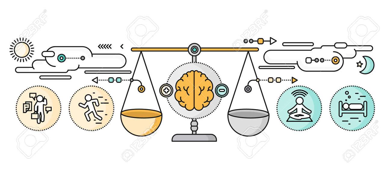 Diagnosis of brain psychology flat design. - 51249161