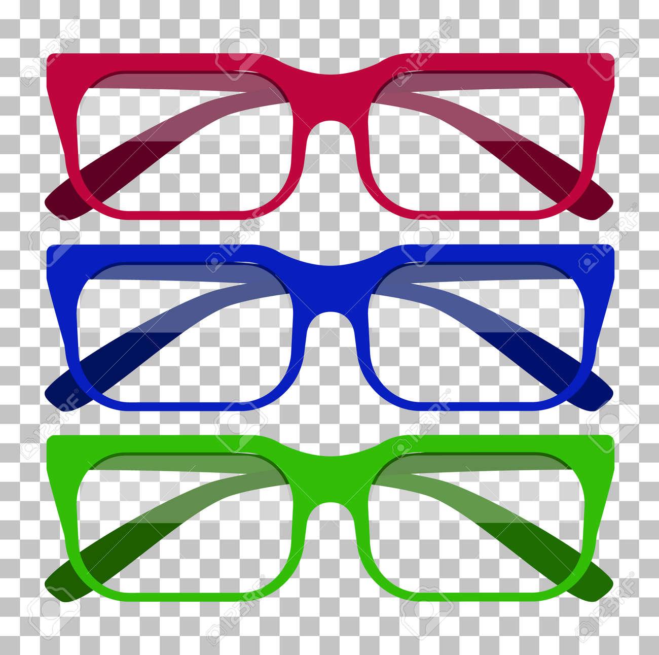 Icono De Los Vidrios Clásico. Vasos Aislados. Gafas Iconos Modelo ...