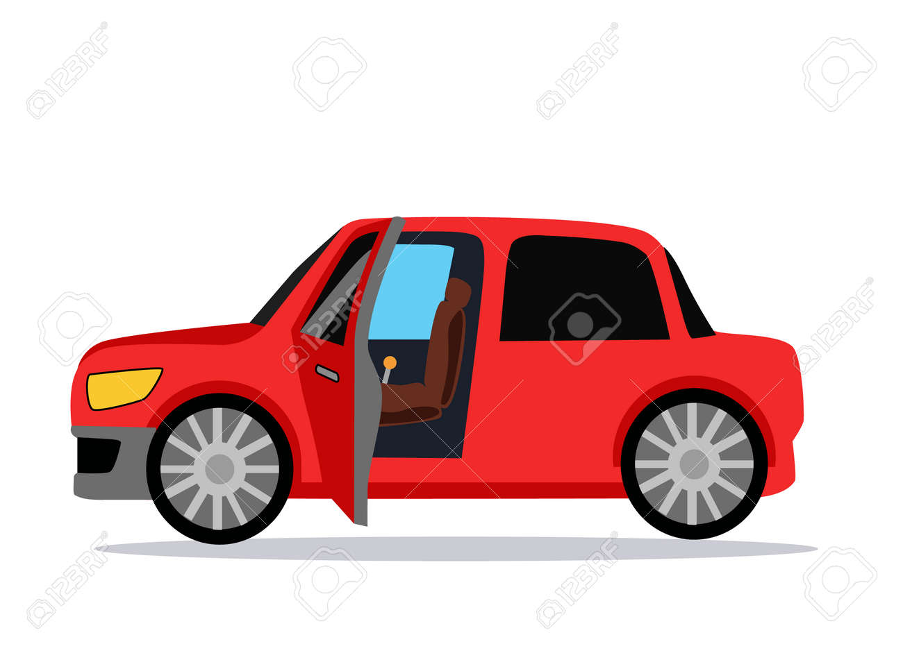 Car Icon Car Icon Object Car Logo Car Icon Giraphic Red Car