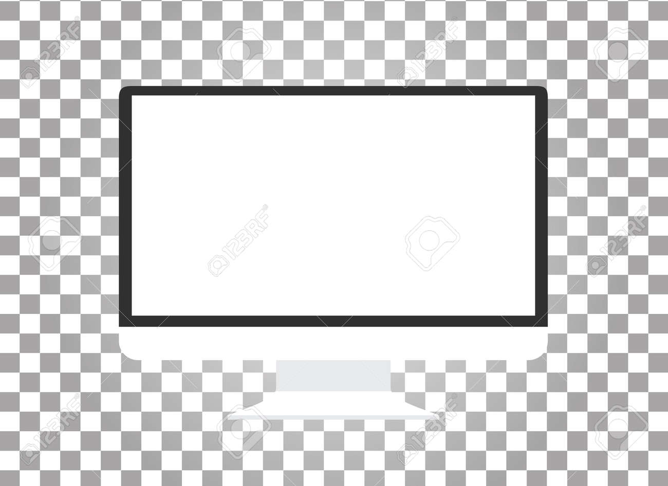 Computer monitor isolated. Computer monitor display. Computer display isolated. Black screen. lcd tv monitor isolated. Icon of monitor. Computer monitor icon. Flat monitor. Vector computer monitor - 51809964