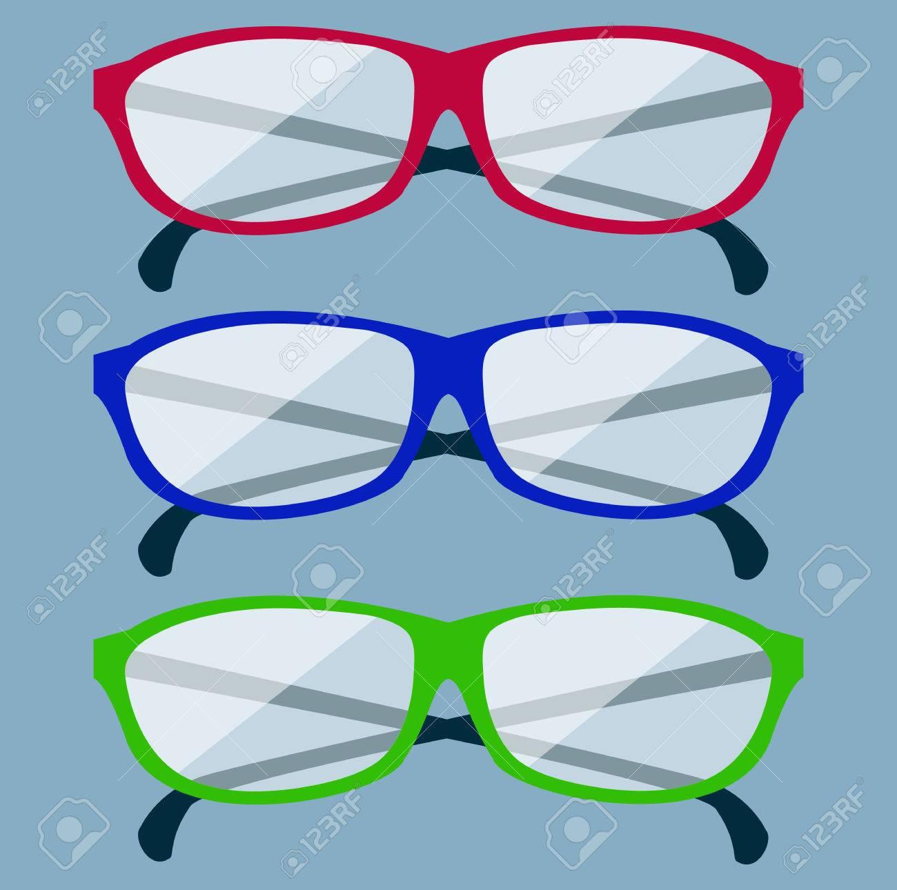90d7768c9c2c23 Klassieke bril pictogram. Glazen geïsoleerd. Glazen modelpictogrammen