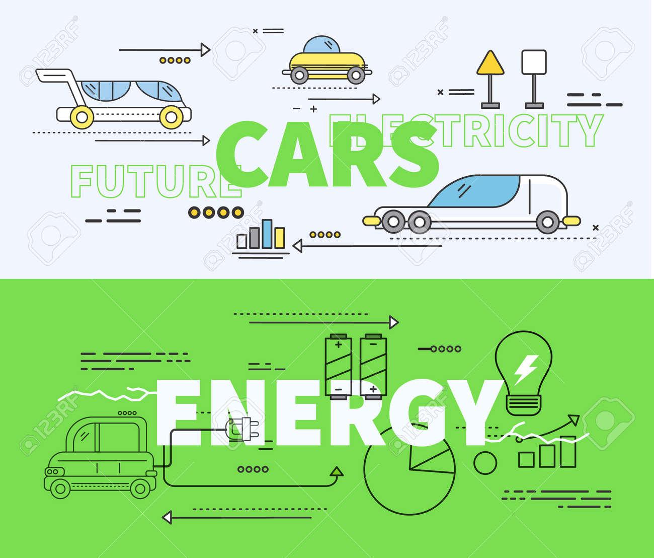 Green Car Diagram Wiring Diagrams Exterior Of Future Energy Electricity Rh 123rf Com