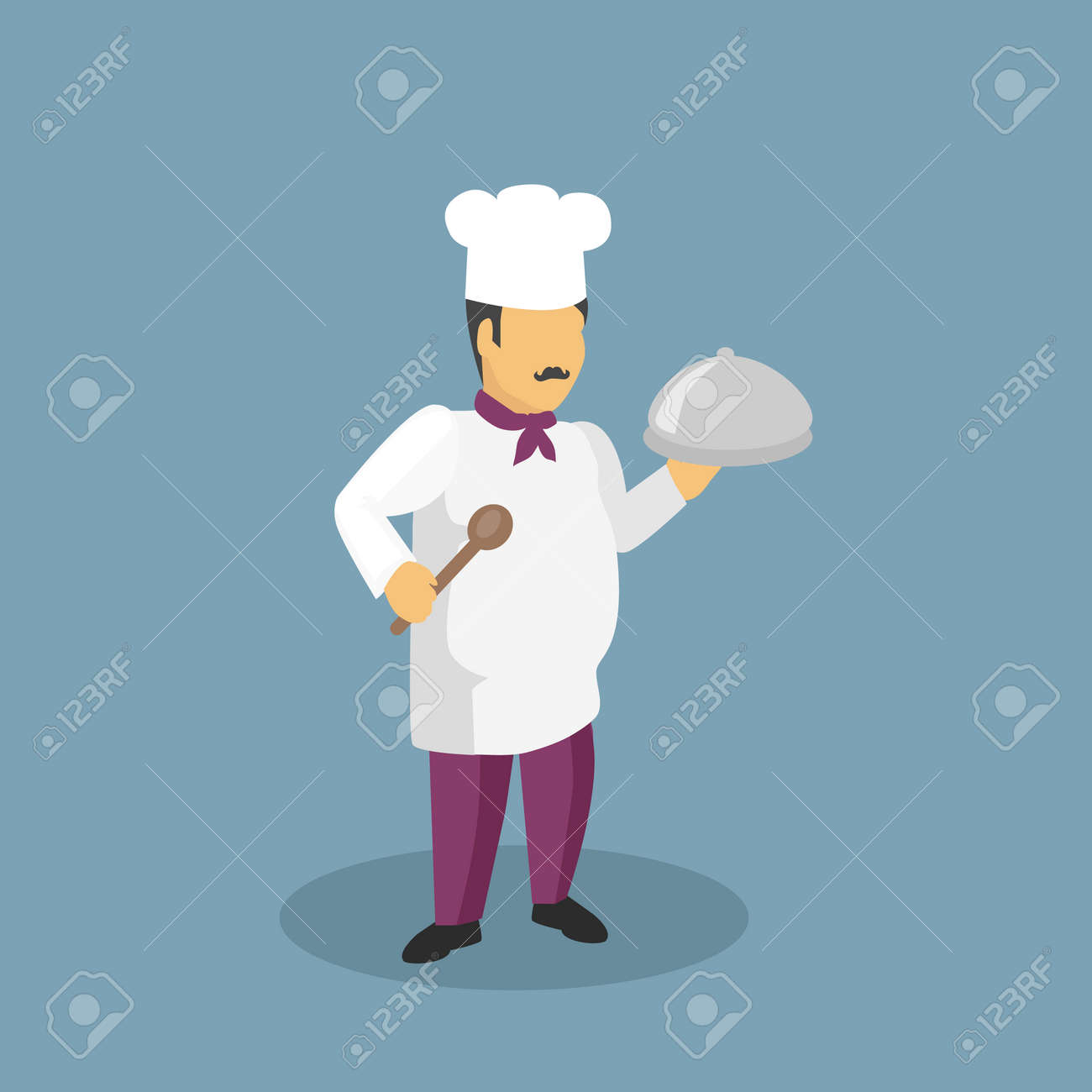 Profession Cooks Character Design Flat. Profession And Cook ...
