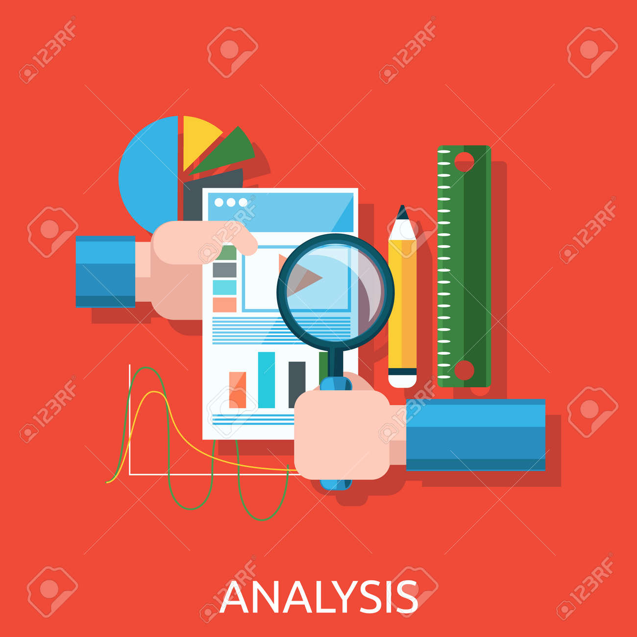 Analysis of actions infographic. Analytics and analysis icon, analyze and business analysis, research data analysis, strategy business, plan web, idea marketing seo. Hands with graph, charts - 53534683