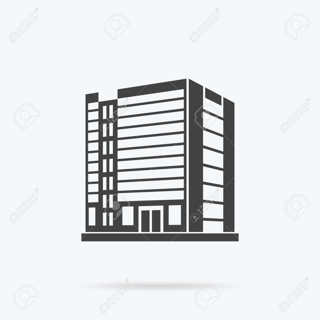Wolkenkratzer Logo Gebaude Symbol Schwarz Gebaude Und Isoliert