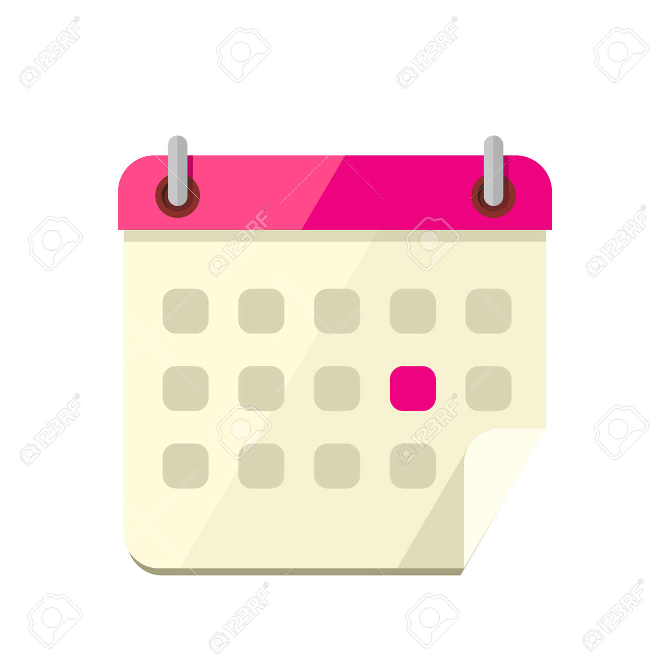 Calendar App Icon Flat Style Design Calendar Icon Page Monthly