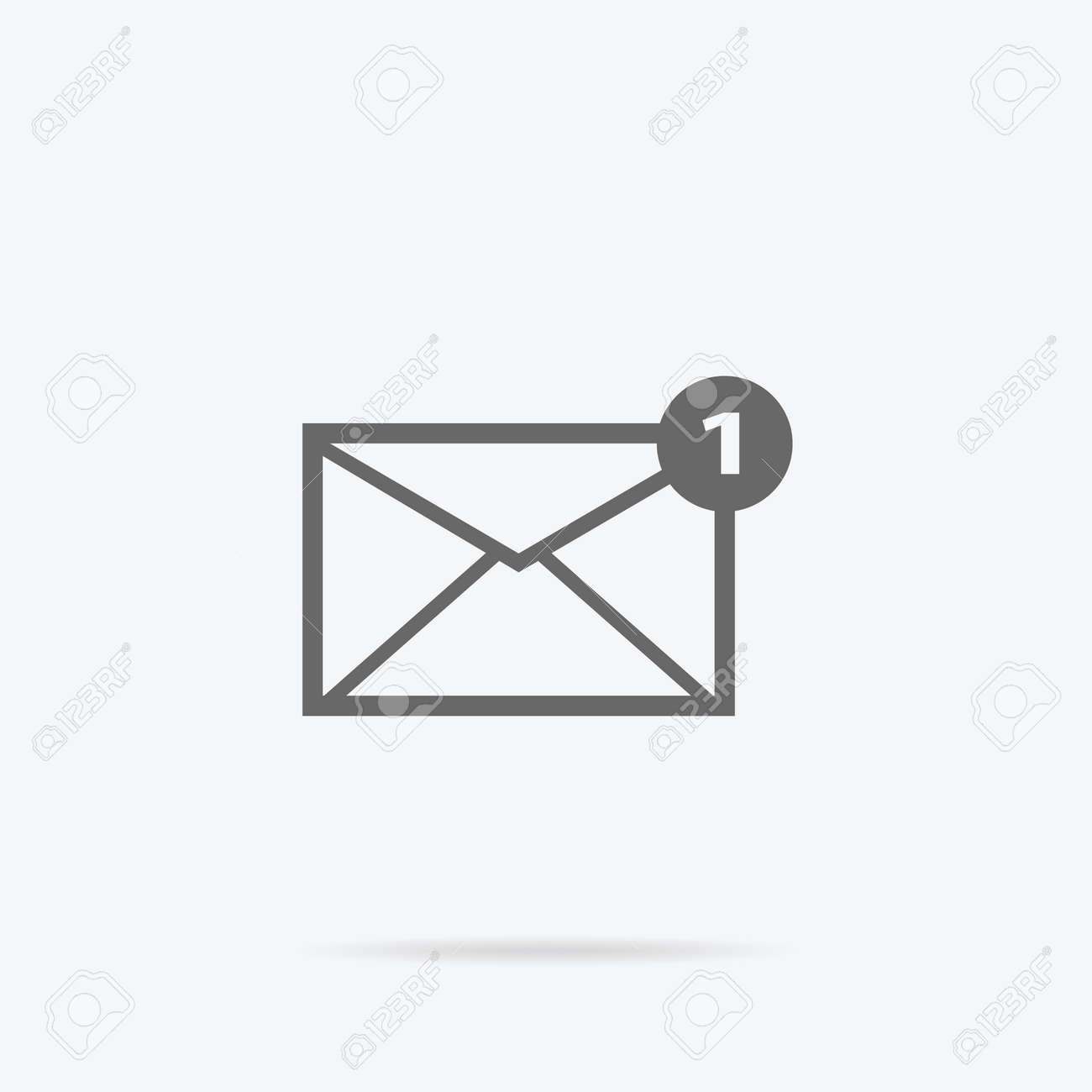 Envelope Mail Message Design Linear Message And Email Letter - Mail envelope template