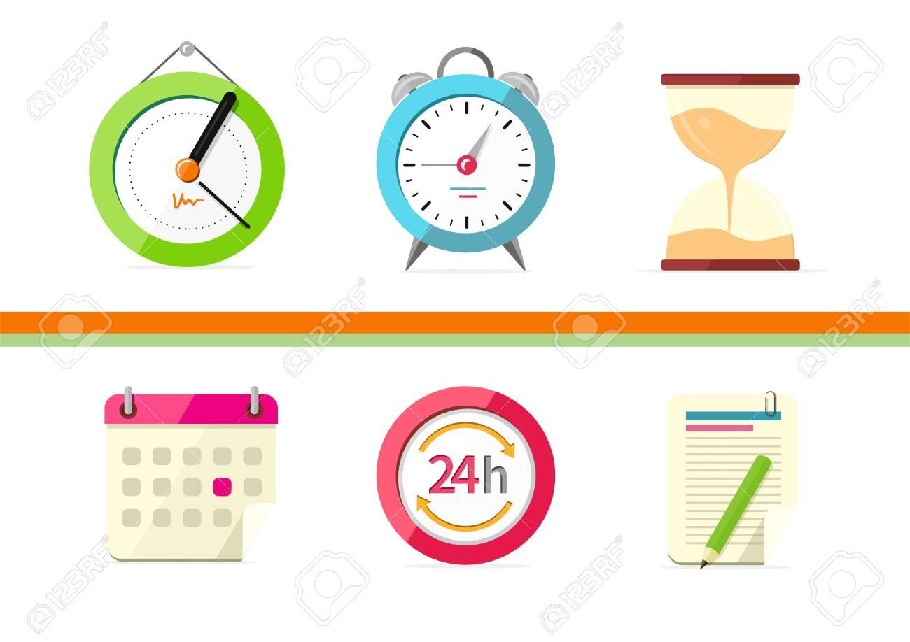 Time Design Flat Concept Clock And Calendar. Time Management ... on date games, date clock, date time, date symbol, date format, date gun,