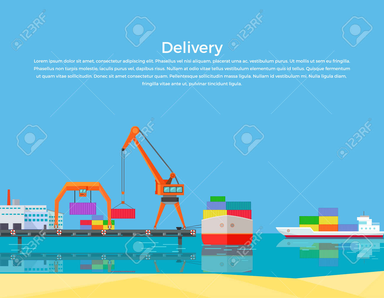 Cargo ship containers shipping  Delivery ship, cargo container,
