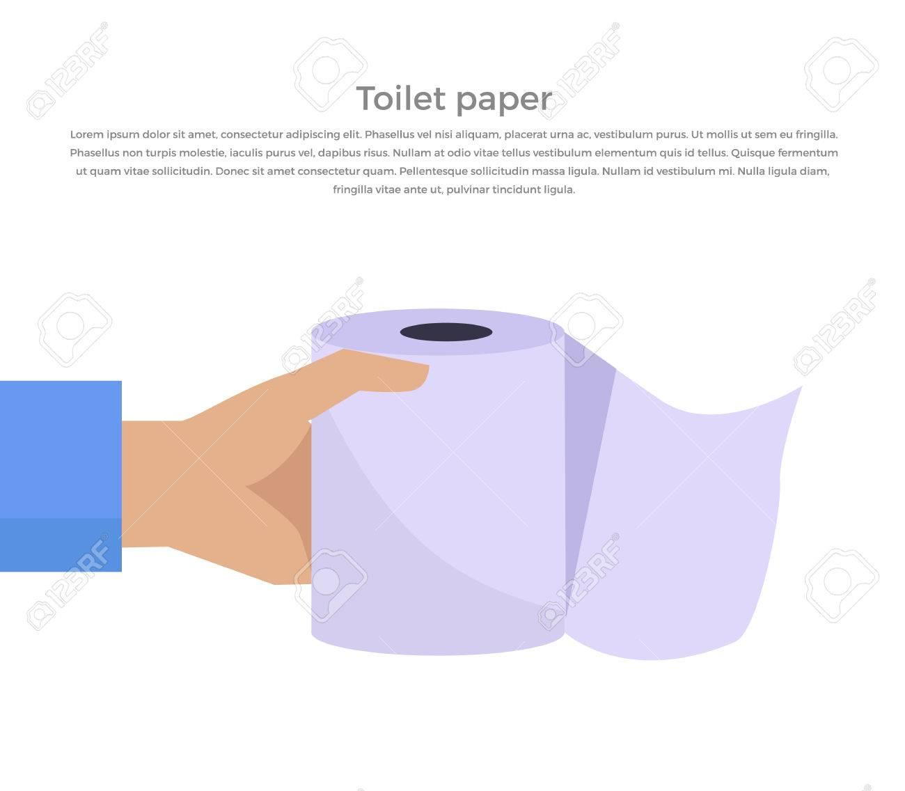 Salle De Bain Zellige Blanc ~ Le Papier De Toilette Web Banni Re Style Design Plat Rouleau De
