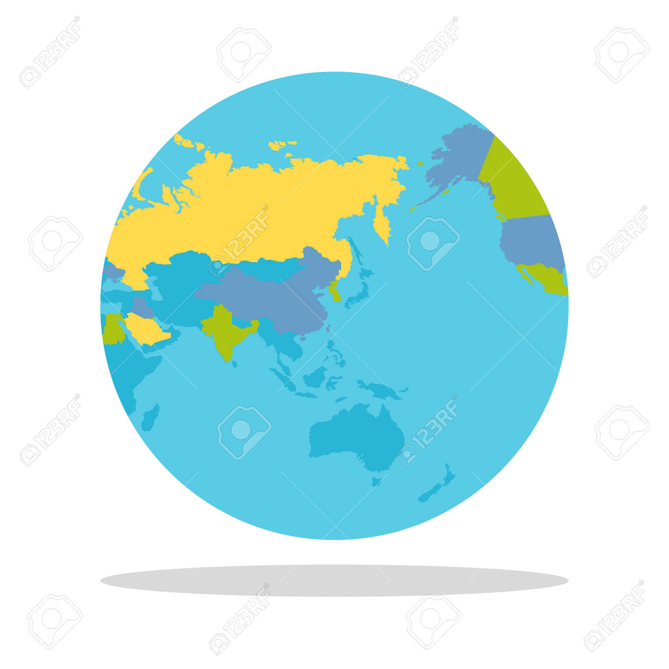 Planet Earth Vector Illustration World Globe With Political - Earth political map