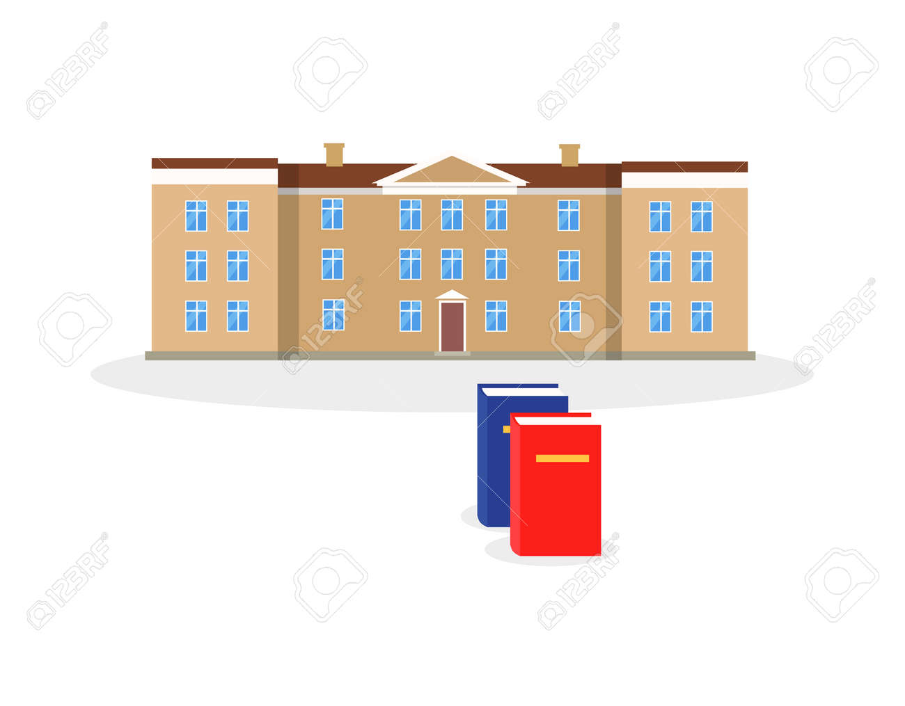College building and book design flat architectural building college building and book design flat architectural building for education flat facade of the ccuart Choice Image