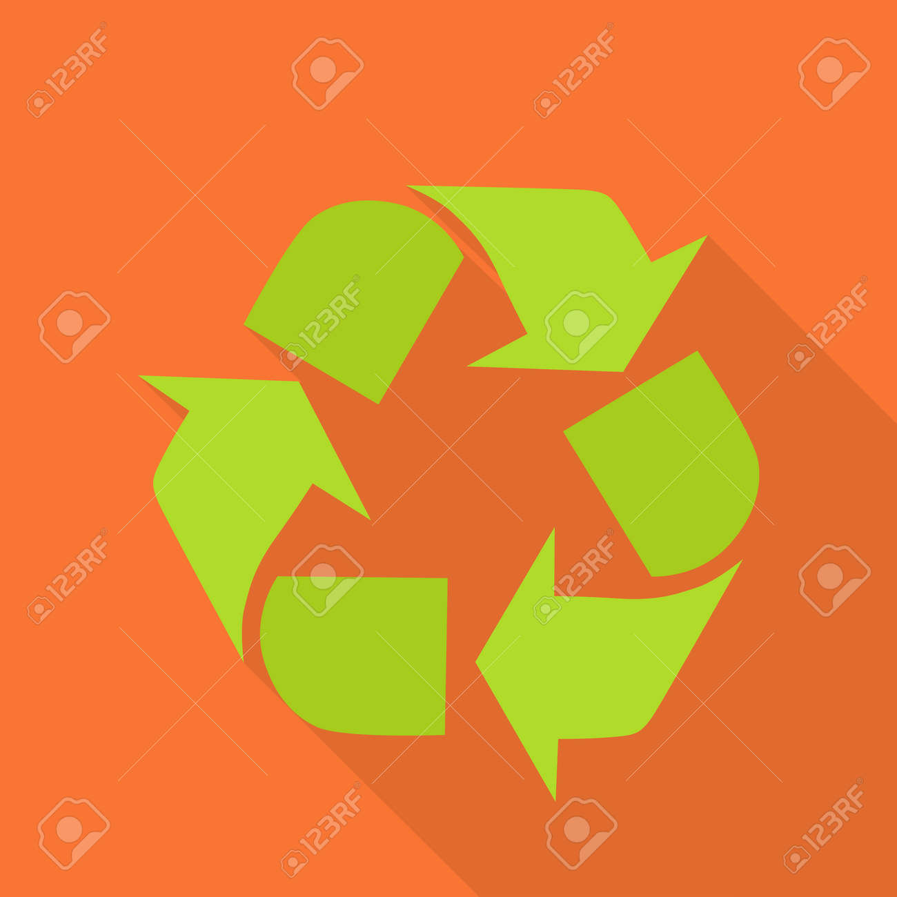 Sign of recycling recycling icon in flat green recycle symbol sign of recycling recycling icon in flat green recycle symbol isolated on red background biocorpaavc Gallery