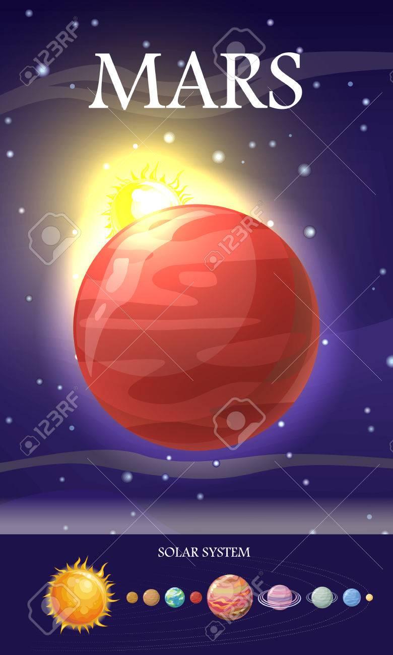 Planeta Marte. Cuarto Planeta Desde El Sol Y El Segundo Planeta Más ...