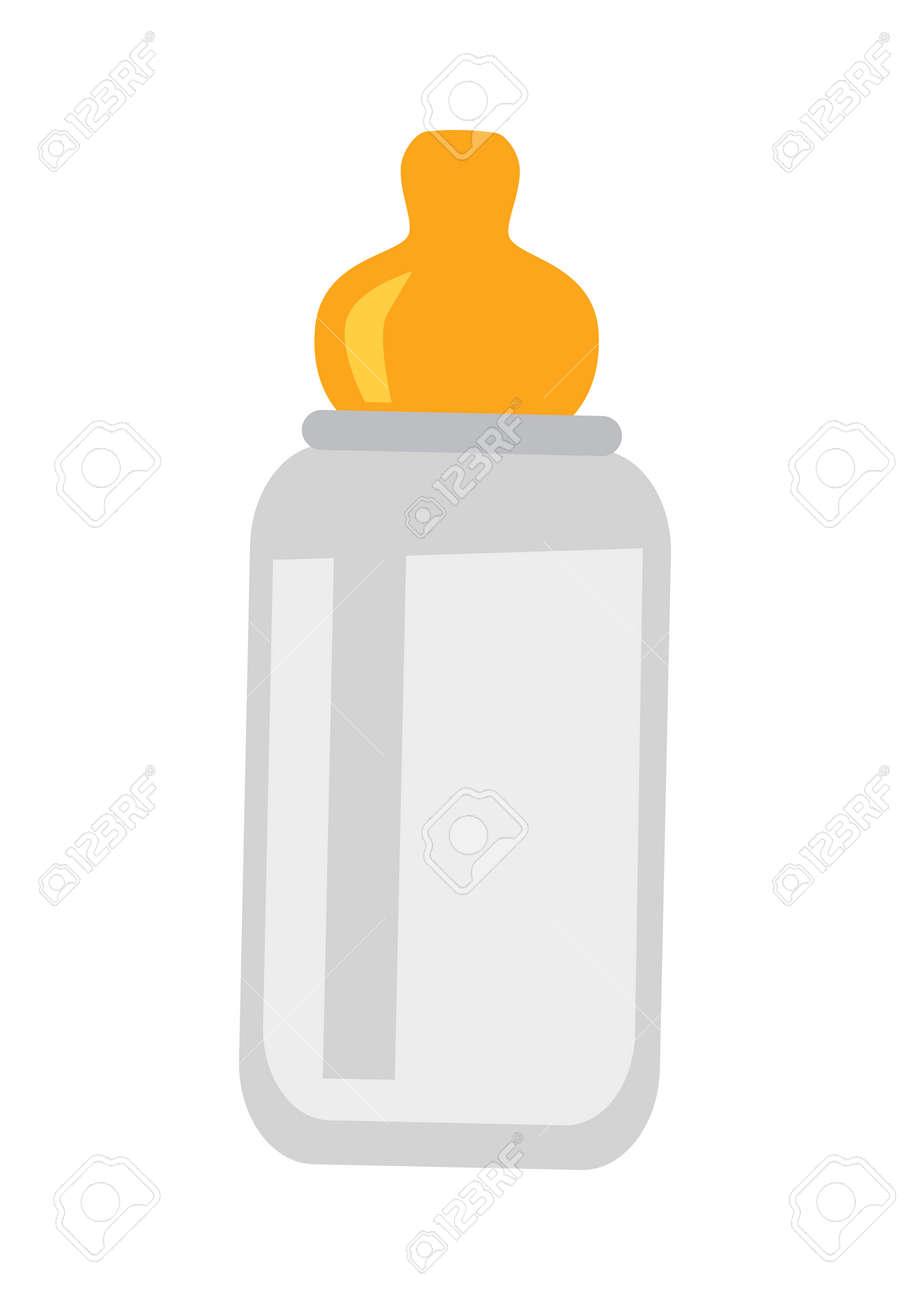Kindernuckelflasche Isoliert Auf Weiß. Kindergetränk Gerät In ...
