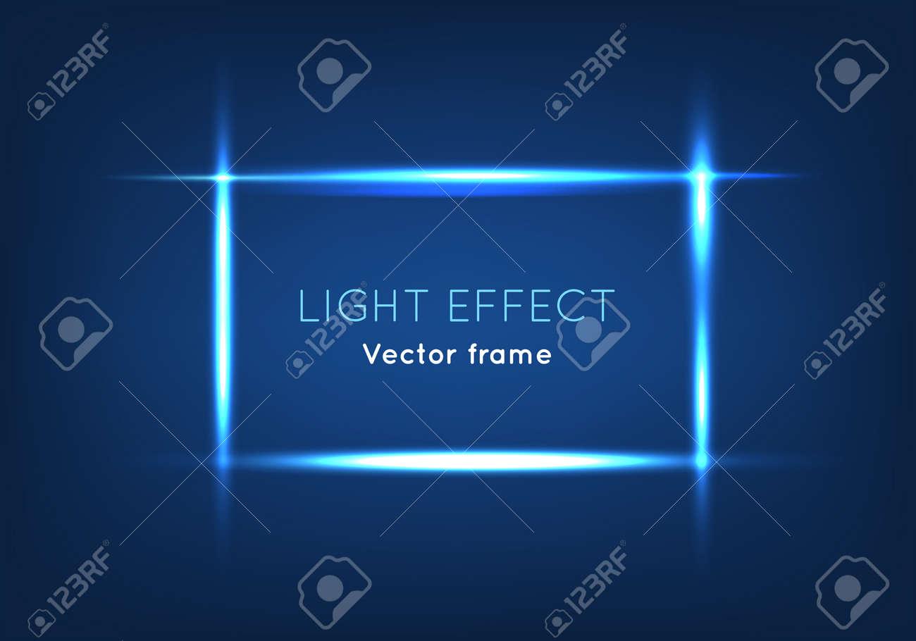 Marco De Vector De Efecto De Luz. Líneas Brillantes Que Forman El ...