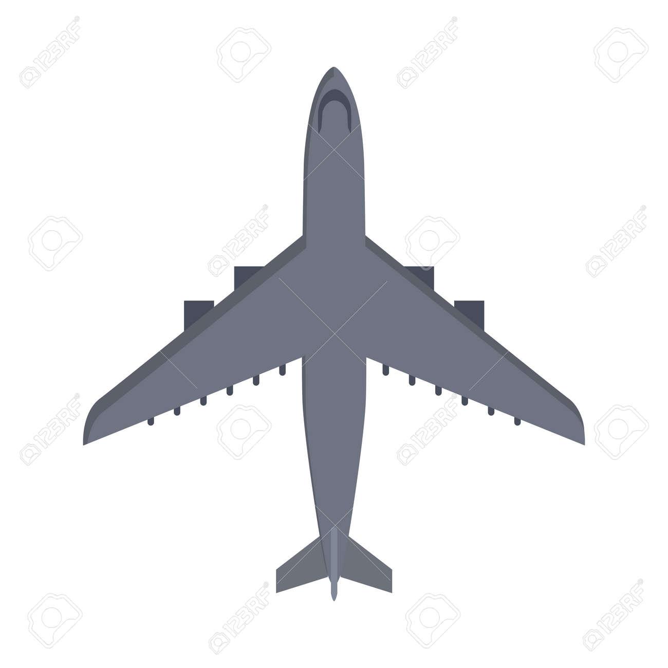 Vettoriale aereo militare isolato su bianco. aereo dei velivoli