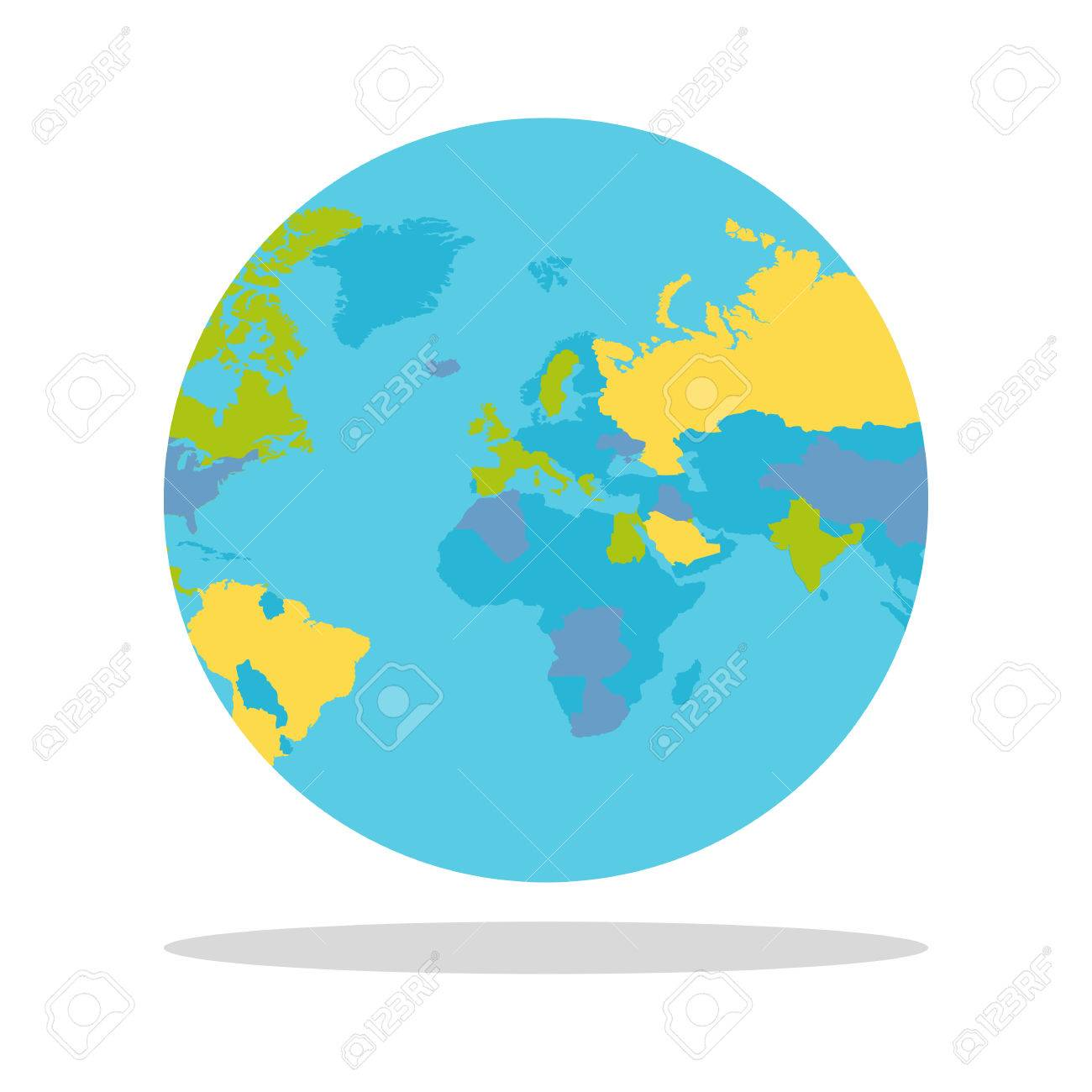 Planet earth vector illustration world globe with political planet earth vector illustration world globe with political map countries silhouettes on the planet gumiabroncs Image collections