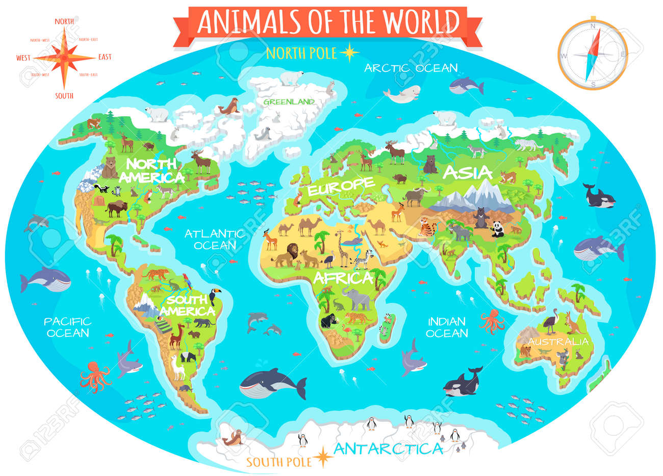 Animals of the world vector. Flat style. World globe with map.. on scale map of the world, ranger's apprentice map of the world, full map of the world, white map of the world, physical features map of the world, climate zone map of the world, satellite map of the world, american map of the world, true size map of the world, bathymetric map of the world, cool map of the world, travel map of the world, game of thrones map of the world, current map of the world, basic map of the world, elder scrolls map of the world, peters projection map of the world, entire map of the world, new yorker map of the world,