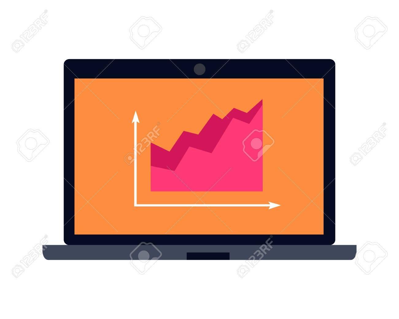 laptop vector illustration flat design notebook with infographic rh 123rf com laptop vector back laptop vector free