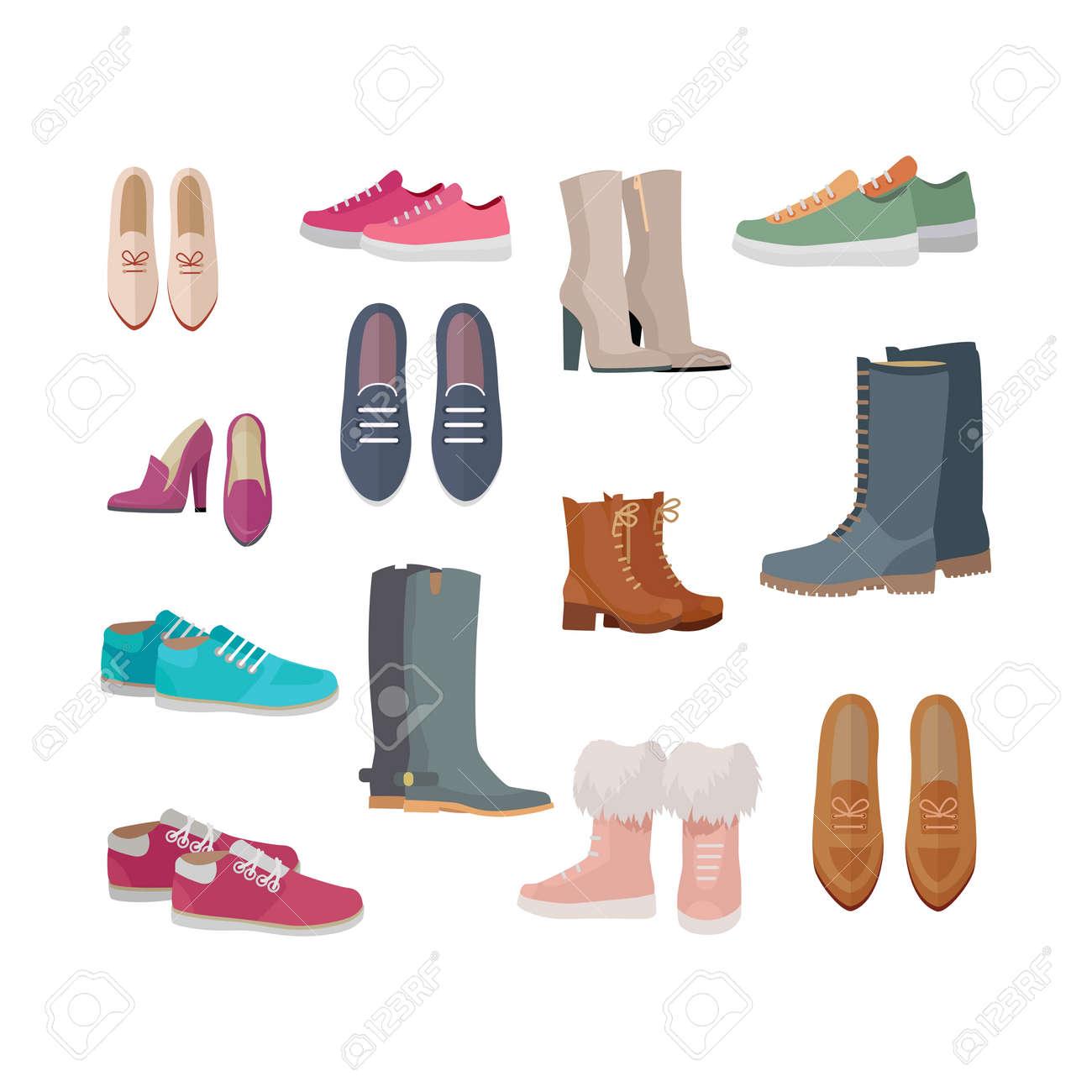 Set Disegno Caviglia Donna Metà Di Piatto Vettoriale S Scarpe E qEwST7v4