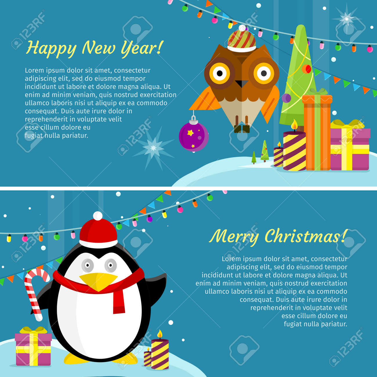 Winter Holiday Banners Coaching Student Banners