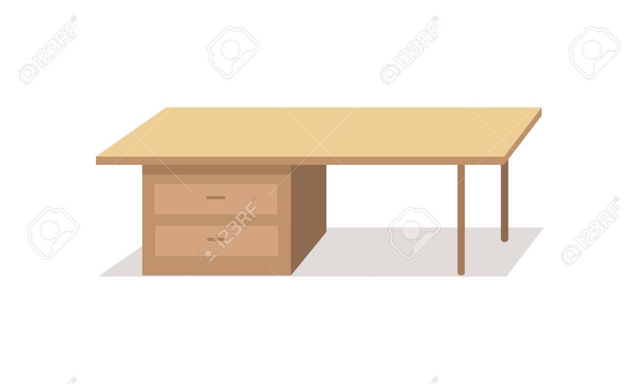 Tabla De Dise O De Estilo Plano Escritorio Cl Sico Con Cajones De  ~ Aplicaciones De Diseño De Interiores