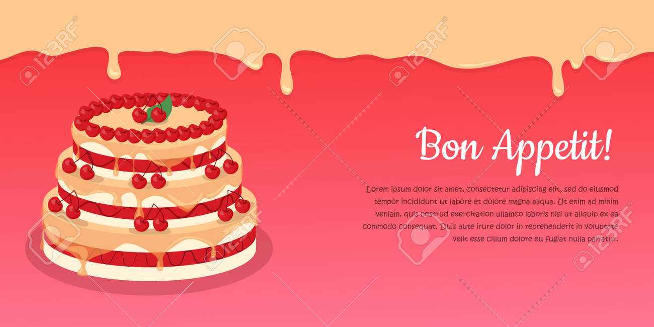 Astounding Bon Appetit Festive Cake Web Banner Chocolate Cake Bakery Personalised Birthday Cards Rectzonderlifede