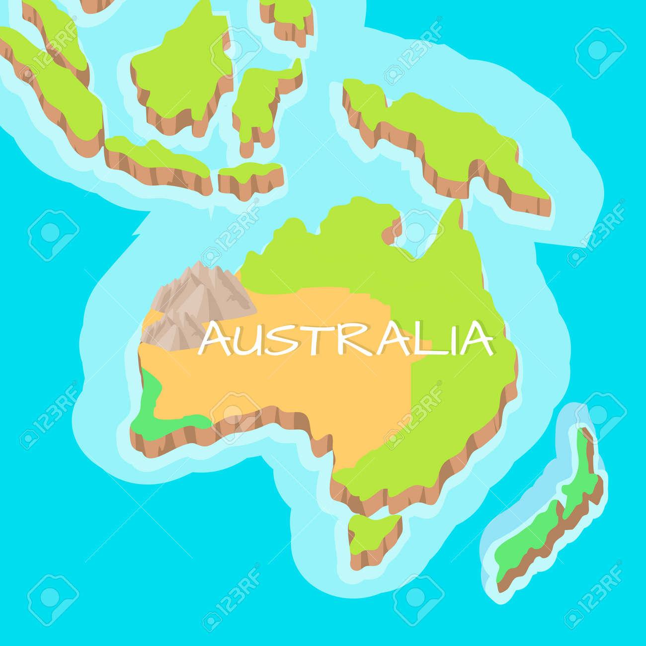 Australia mainland vector cartoon relief map royalty free cliparts australia mainland vector cartoon relief map stock vector 70398939 gumiabroncs Images