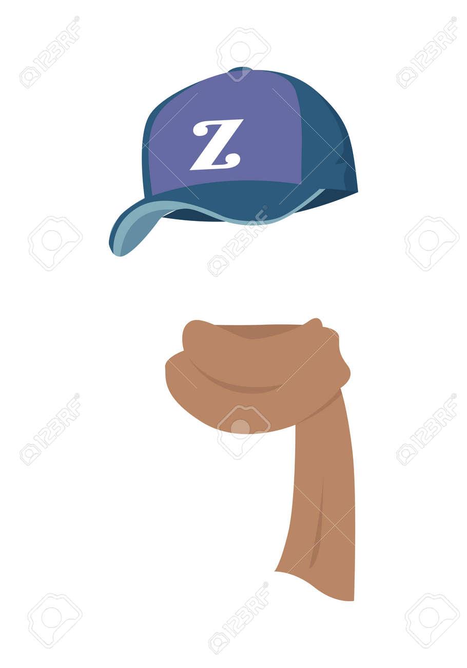 Hat. Contemporary Sport Violet Cap with Z Letter Stock Vector - 70961896 48dd1e3fda78