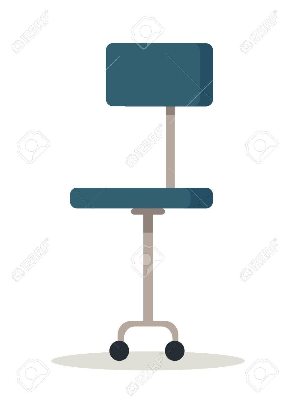 Icone Chaise Bureau Bleu Banque Dimages