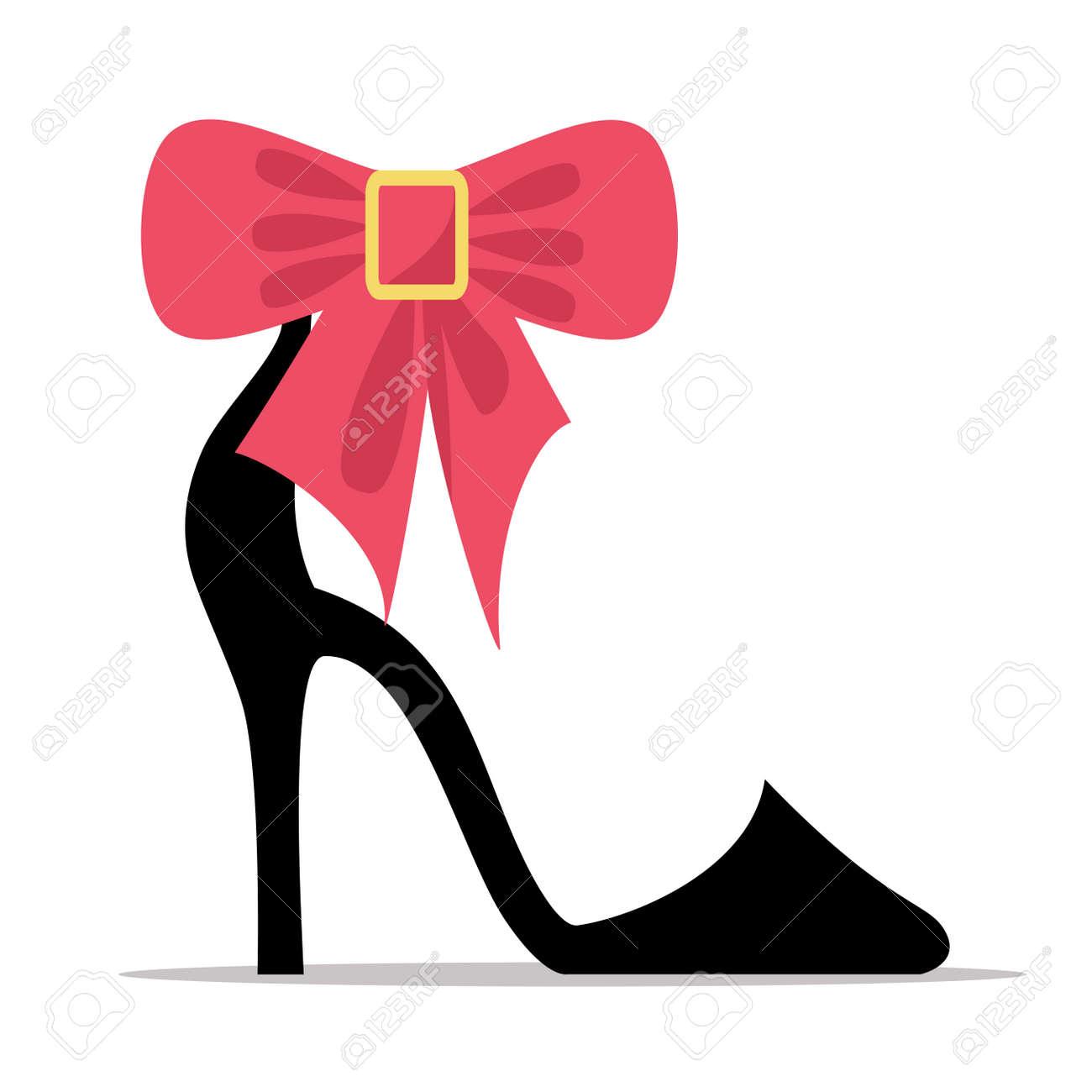 e49685494012cb Banque d'images - Chaussure pour femme avec motif à talons hauts et arc