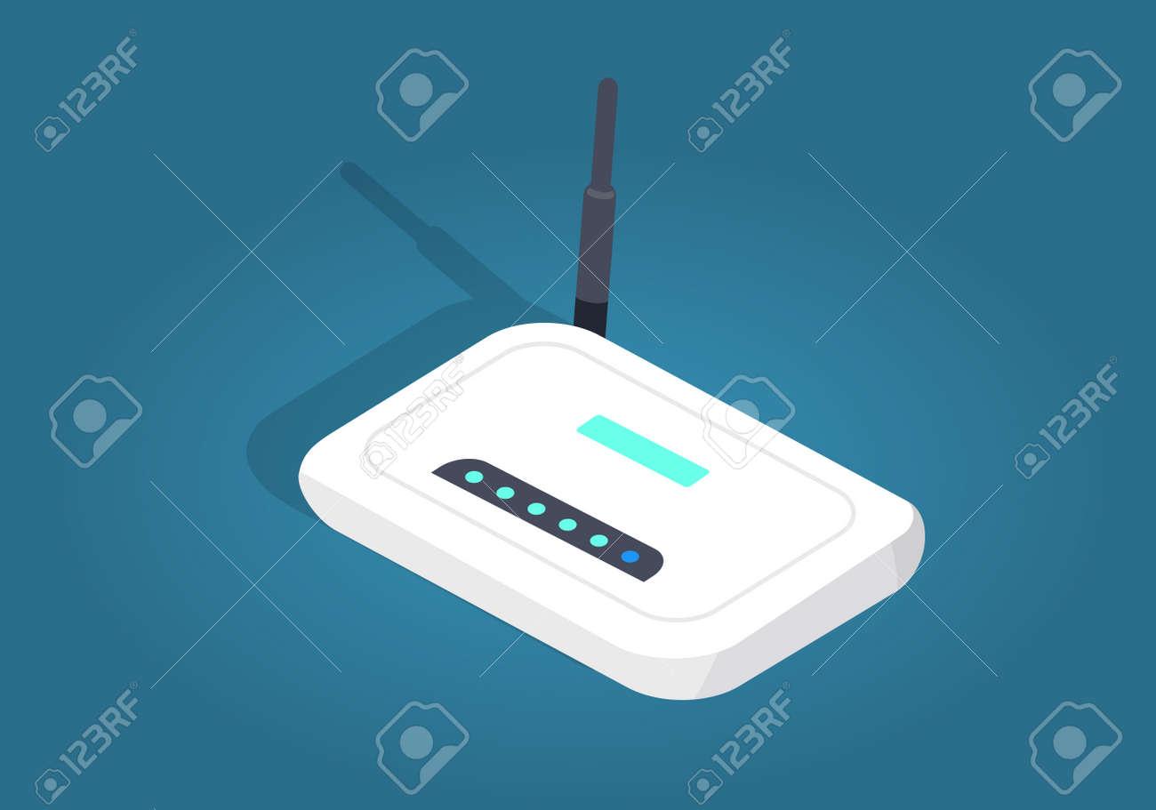 White Realisti Wireless Wi-fi Router with Antenna - 85386618