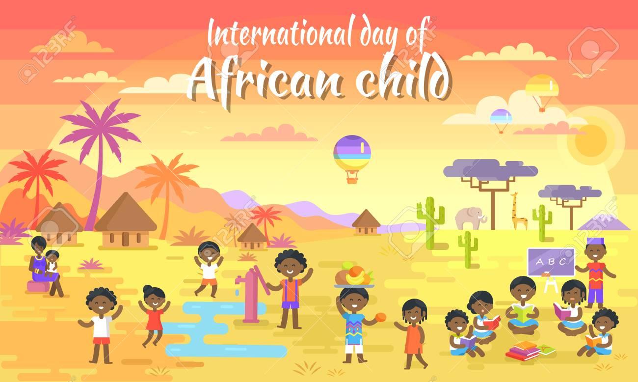 International Day of African Child Big Banner - 86749807