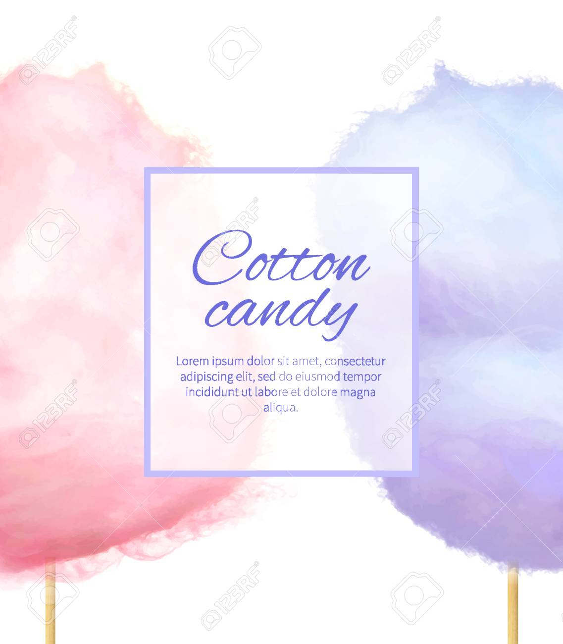 Cotton Candy Banner with Sweet Floss Spun Sugar