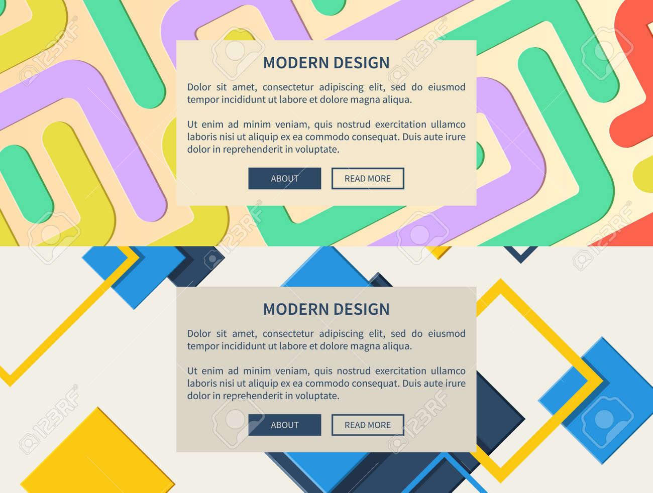 Modern design web pages set of diagonal lines making unity together
