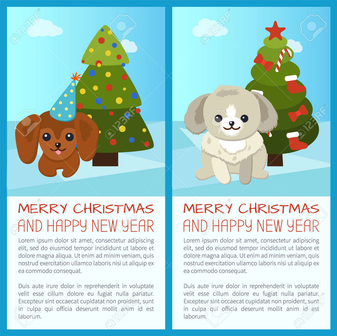 Merry Christmas Greeting Cards. Royalty Free Cliparts, Vectors, And ...